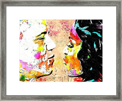 Barack And Michelle  Framed Print by Daniel Janda