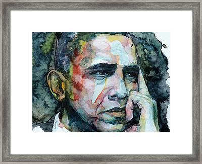 Barack Framed Print by Laur Iduc