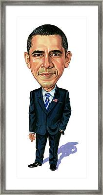 Barack Obama Framed Print by Art
