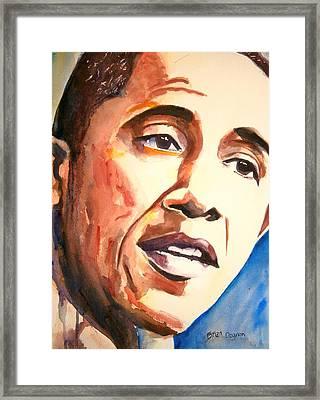 Barack Obama Framed Print by Brian Degnon