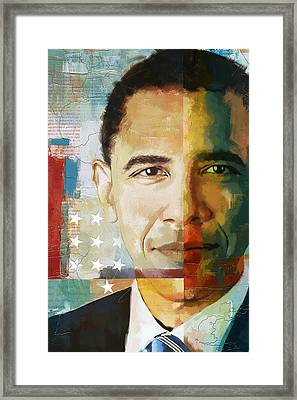 Barack Obama Framed Print by Corporate Art Task Force