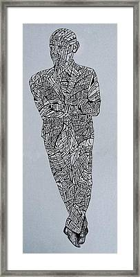 Barack Obama Framed Print by Lourents Oybur