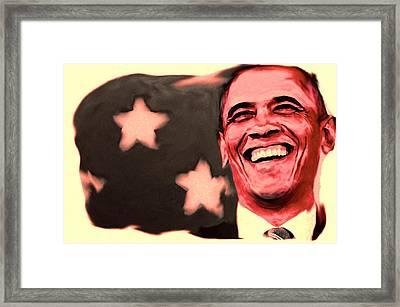 Barak Obama Framed Print by Parvez Sayed
