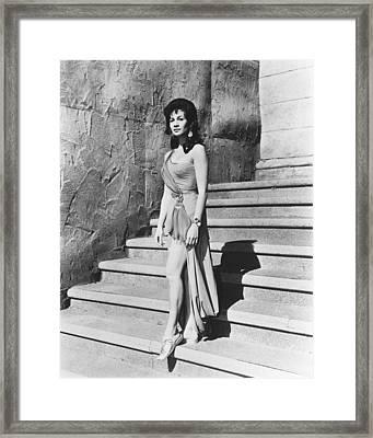 Barbara Luna Framed Print by Silver Screen