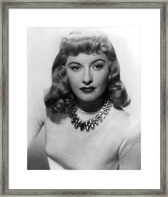 Barbara Stanwyck In Double Indemnity  Framed Print by Silver Screen
