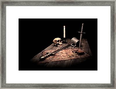 Barbarian Quest Framed Print by Tom Mc Nemar