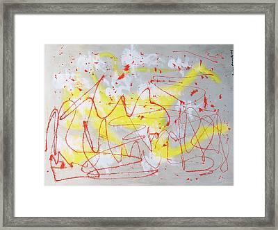 Barbed Wire Framed Print by Barbara Anna Knauf