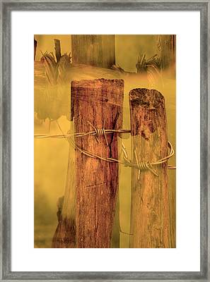 Barbed Wire  Framed Print by Toppart Sweden