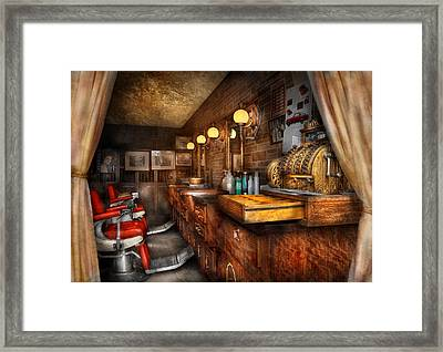 Barber - Closed On Sundays Framed Print by Mike Savad