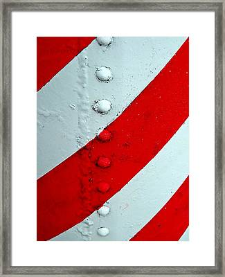 Barber Pole Framed Print by Chris Berry