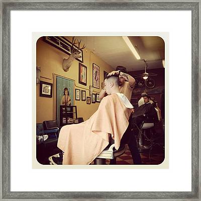 Barber Shop Framed Print by Todd Cutter