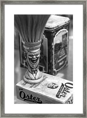 Barber Sundry Framed Print by Martin Cline