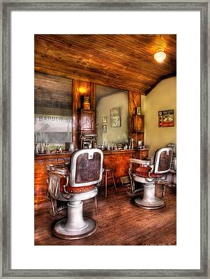 Barber - The Barber Shop II Framed Print by Mike Savad