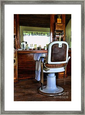 Barber - The Barber Shop Framed Print by Paul Ward