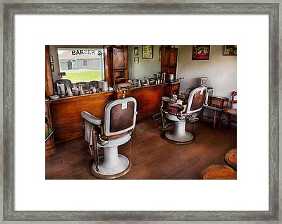 Barber - The Hair Stylist Framed Print by Mike Savad