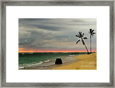 Barbers Point Sunset Framed Print by Terry Cotton
