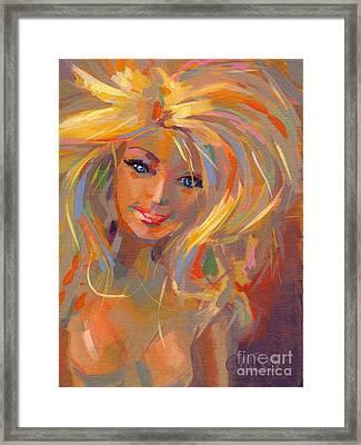 Barbie Licious Framed Print by Kimberly Santini