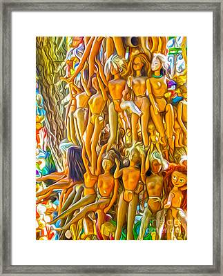 Barbie Tree Framed Print by Gregory Dyer