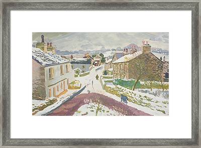 Barbon In The Snow Framed Print by Stephen Harris