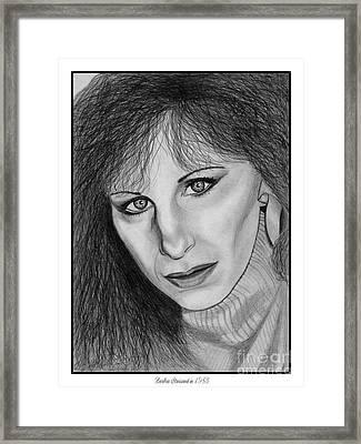 Barbra Streisand In 1983 Framed Print by J McCombie
