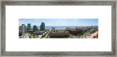 Barcelona Seafront Panorama Framed Print by Panoramic Images