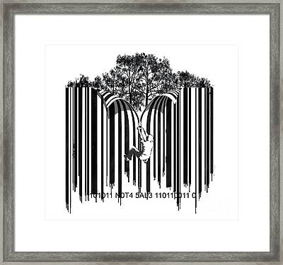 Barcode Graffiti Poster Print Unzip The Code Framed Print by Sassan Filsoof