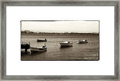Barcos Framed Print by John Rizzuto