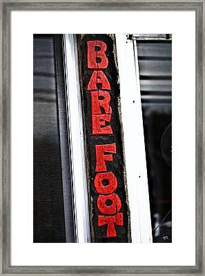 Bare Foot Framed Print by Karol Livote