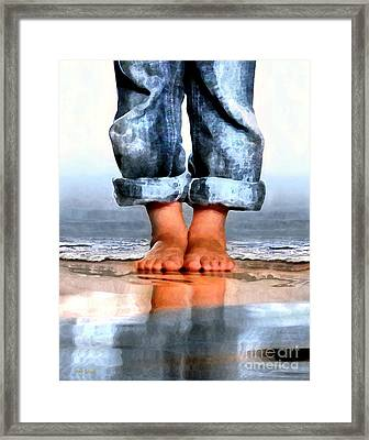 Barefoot Boy   Framed Print by Dale   Ford