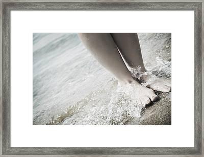 Barefoot On The Beach Framed Print by Don Hammond