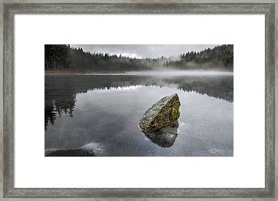 Barely Frozen Framed Print by James Wheeler