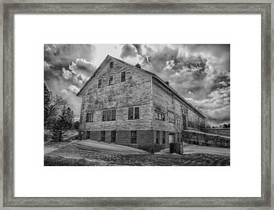Barn At Amhi   7k00333 Framed Print by Guy Whiteley