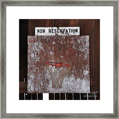 Barn Basketball Framed Print by Art Block Collections
