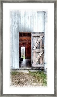 Barn Dance Phone Case Framed Print by Edward Fielding
