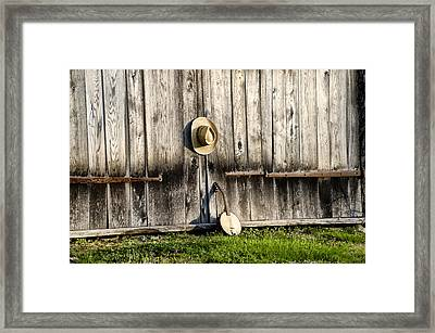 Barn Door And Banjo Mandolin Framed Print by Bill Cannon