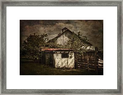 Barn In Morning Light Framed Print by Kathy Jennings