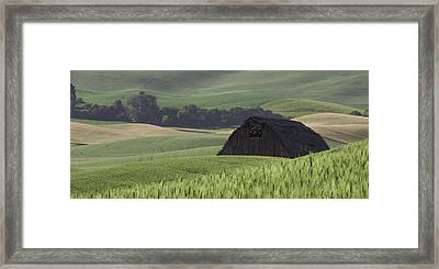 Hidden Barn Framed Print by Latah Trail Foundation