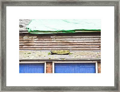 Barn Repairs Framed Print by Tom Gowanlock