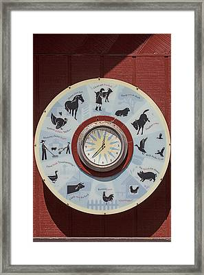 Barn Yard Clock Framed Print by Garry Gay