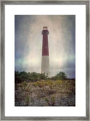 Barnegat Lighthouse Dawn Framed Print by Joan Carroll