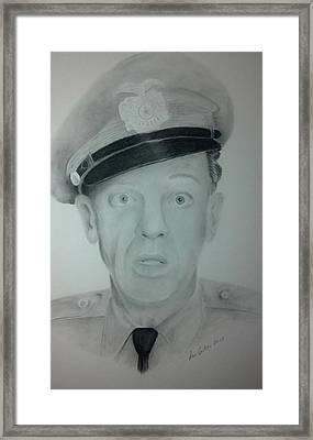 Barney Fife Framed Print by Don Cartier