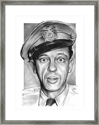 Barney Fife Framed Print by Greg Joens
