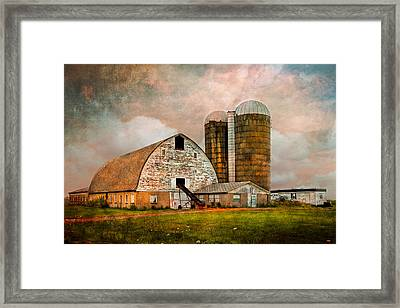 Barns In The Country Framed Print by Debra and Dave Vanderlaan