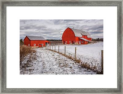 Barns Of New York Framed Print by Everet Regal