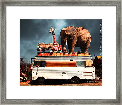 Barnum And Baileys Fabulous Road Trip Vacation Across The Usa Circa 2013 5d22705 With Text Framed Print by Wingsdomain Art and Photography