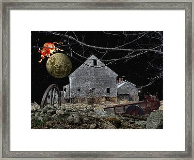 Barnyard Games Framed Print by Donna Lee Young