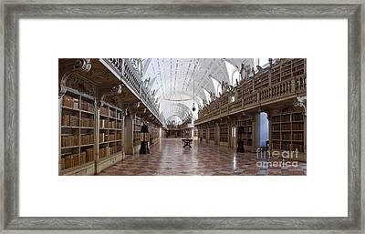 Baroque Library  Framed Print by Jose Elias - Sofia Pereira