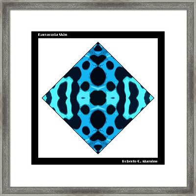 Barracuda Skin Framed Print by Roberto Alamino