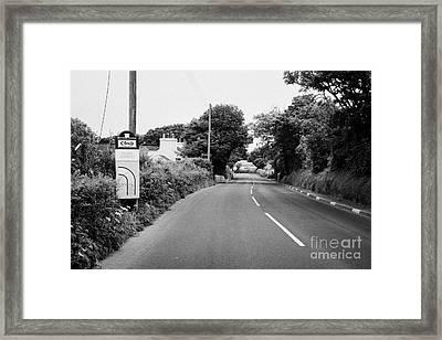 Barre Garroo On The Isle Of Man Tt Course Iom Framed Print by Joe Fox