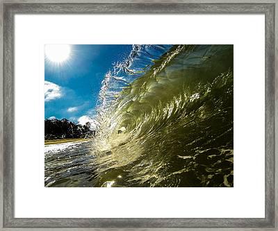 Barrel Flare Framed Print by David Alexander